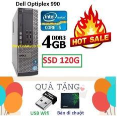 Thùng Đồng Bộ Dell Optiplex 990 (Core i5 2400 / 4G / SSD 120G ), Tặng USB Wifi , Bàn di chuột , Bảo hành 02 năm – Hàng Nhập Khẩu