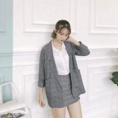 Áo khoác vest nữ kẻ sọc