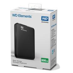 Ổ cứng di động WD Elements 500GB (đen) + Bao vải WD