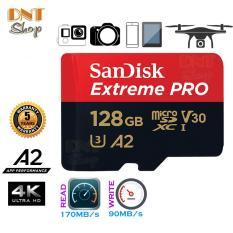 Thẻ nhớ MicroSDXC SanDisk Extreme PRO A2 – 128GB V30 U3 Class 10 UHS-I 170MB/s (SDSQXCY-128G-GN6MA)