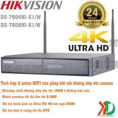 Đầu Ghi Hình Camera IP Không Dây 5.0MP HIKVISION DS-7608NI-K1/W 8 Kênh không dây