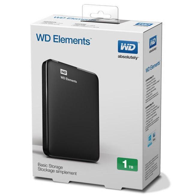 Bảng Giá Ổ Cứng Di Động 1TB WD Elements (đen) + Bao vải WD Tại Nam Dũng PC