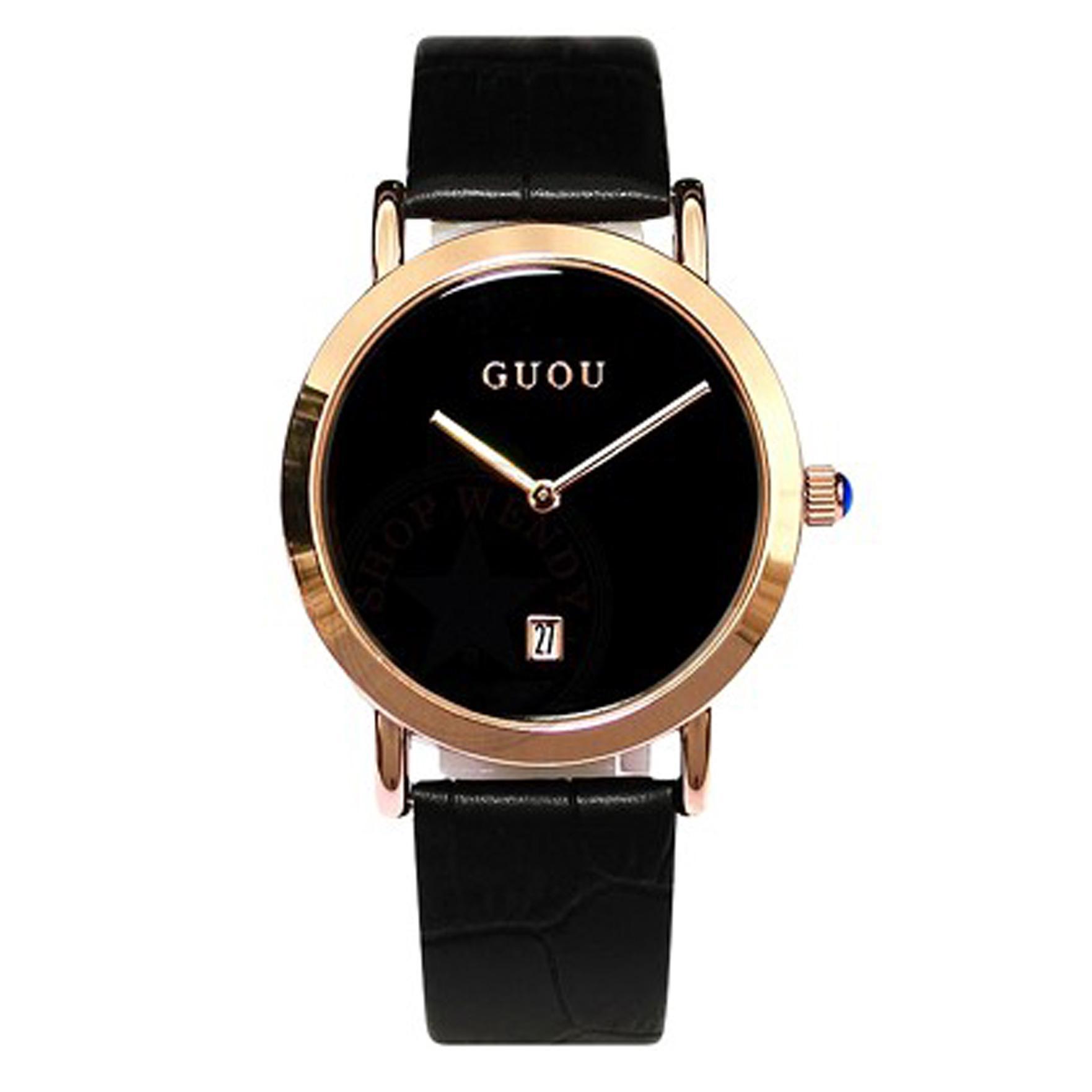 Đồng hồ nữ thời trang Guou V01 dây da cao cấp