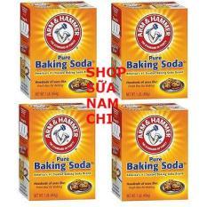 Bộ 4 Bột Nở Baking Soda đa công dụng 454g ( 100% USA)