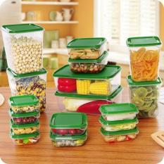 Bộ 17 hộp nhựa đựng thực phẩm giá rẻ Vega365 (Màu ngẫu nhiên)