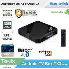 Android TV Box Tanix TX3 Max – CPU S905W, Ram 2G, Rom 16G, Bluetooth 4.0