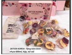 30 Gói Trà Detox hoa quả sấy khô, DETOX KOREA – Tặng kèm bình nhựa 600ml, hộp, túi vải [CÓ ẢNH THẬT]