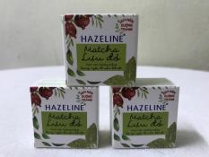 combo 3 hộp kem nén hazeline dưỡng trắng 3g/hộp + tặng 1 túi đựng mỹ phẩm