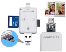 3 in 1 i Flash Drive USB Micro SD SDHC TF Card Reader Writer for iPhone 5/5s/6/6/7/8/X /ipad/Samsung OTG Phones – intl