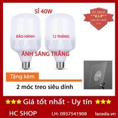 [KMT06] – Bộ 2 bóng đèn Led trụ 40W TOATAT Siêu sáng – tiết kiệm điện (Trắng)
