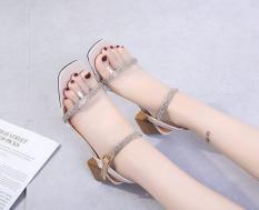 Giày cao gót vuông LT 5 phân bản trong phối dây xoàn