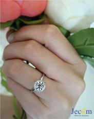 Nhẫn nữ giả kim cương Jecom Silver RingA1490S8 size 8 đk 15mm (Bạc)