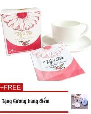 Trà Tăng cân Vy Tea – Tặng Gương trang điểm