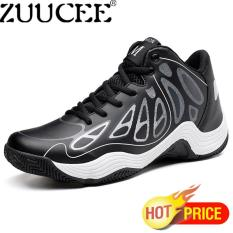 ZUUCEE Fashion Men Basketball Shoes High-top Sneakers Comfortable Shoes For Men (black white)【Free Shipping】