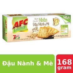 Bánh Cracker AFC Nhân Đậu Nành & Mè 168g (7 gói)