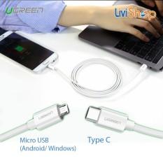 Cáp chuyển USB Type C sang Micro USB Ugreen (Sạc và truyền dữ liệu tốc độ cao – Kết nối Macbook Type C và Smartphone Android)