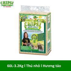 Lót chuồng cho thú nhỏ hương táo Chipsi Green Apple 60L