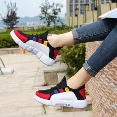 Giày sneaker nữ DODACO DDC3221 giày thể thao nữ thời trang style hàn quốc chất liệu siêu nhẹ vải khử mùi thoáng khí hàng hot trends giá rẻ mẫu mới nhất 2018 màu Bộ đội Xám Trắng