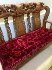 bộ bàn ghế gỗ phòng khách giá rẻ,giat tham van phong,tham lot ghe go,Với 2 lớp lót, cộng với vải dày như len giúp cho bạn cảm thấy ấm áp, thoải mái và thật dễ chịu.