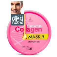 Mặt Nạ Dưỡng Trắng Đẹp Da Collagen Da Nhờn 145g LANGCE dành cho nam