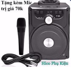 Loa Bluetooth xách tay hát karaoke P87 P88 P89 có tặng kèm Micro