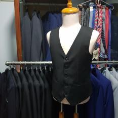 Áo gile nam màu đen trẻ trung năng động chất liệu vải mềm mỏng