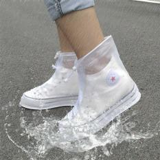 Bao Giày Đi Mưa – Áo Mưa Bọc Giày Dép Thời Trang Bằng Cao Su – 100% Khô Ráo Dù Mưa Bão Màu Trắng