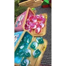 3 hộp viên giặt xả Gelball hàng Nhật hộp 18 viên (2 màu xanh ,hồng)