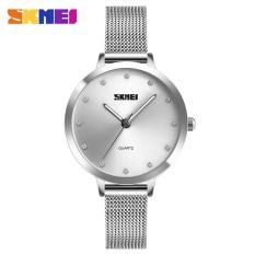 Đồng hồ nữ mặt đính đá Skmei DO60 chống nước 30m dây Titanium cao cấp