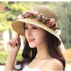 Mũ cói nữ vành 8cm – tặng kèm vòng hoa Reveria
