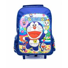 Ba lô Doraemon Vali kéo bé đi học (Xanh)