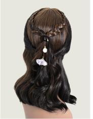 Dây buộc tóc hoa và ngọc trai đơn giản nữ tính cho mái tóc thêm xinh yêu