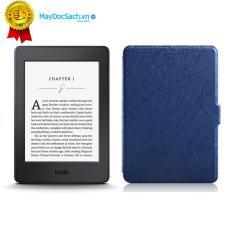 Máy đọc sách Kindle Paperwhite (7th) và Bao da Vân (Màu Xanh đậm)