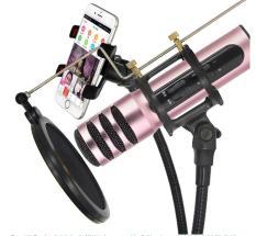 Mic Hat Karaoke Kiem Loa,Micro Thu Âm Tại Nhà, Micro Karaoke + Livestream Kiêm Sound Card 3 In 1 Cao Cấp. Bảo Hành 1 Đổi 1 Trên Toàn Quốc