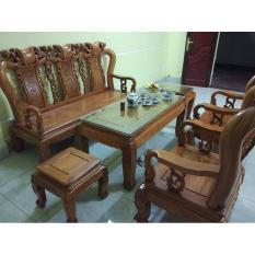 Bộ bàn ghế trạm khắc Minh quốc đào gỗ gõ đỏ cột 10 và cột 12
