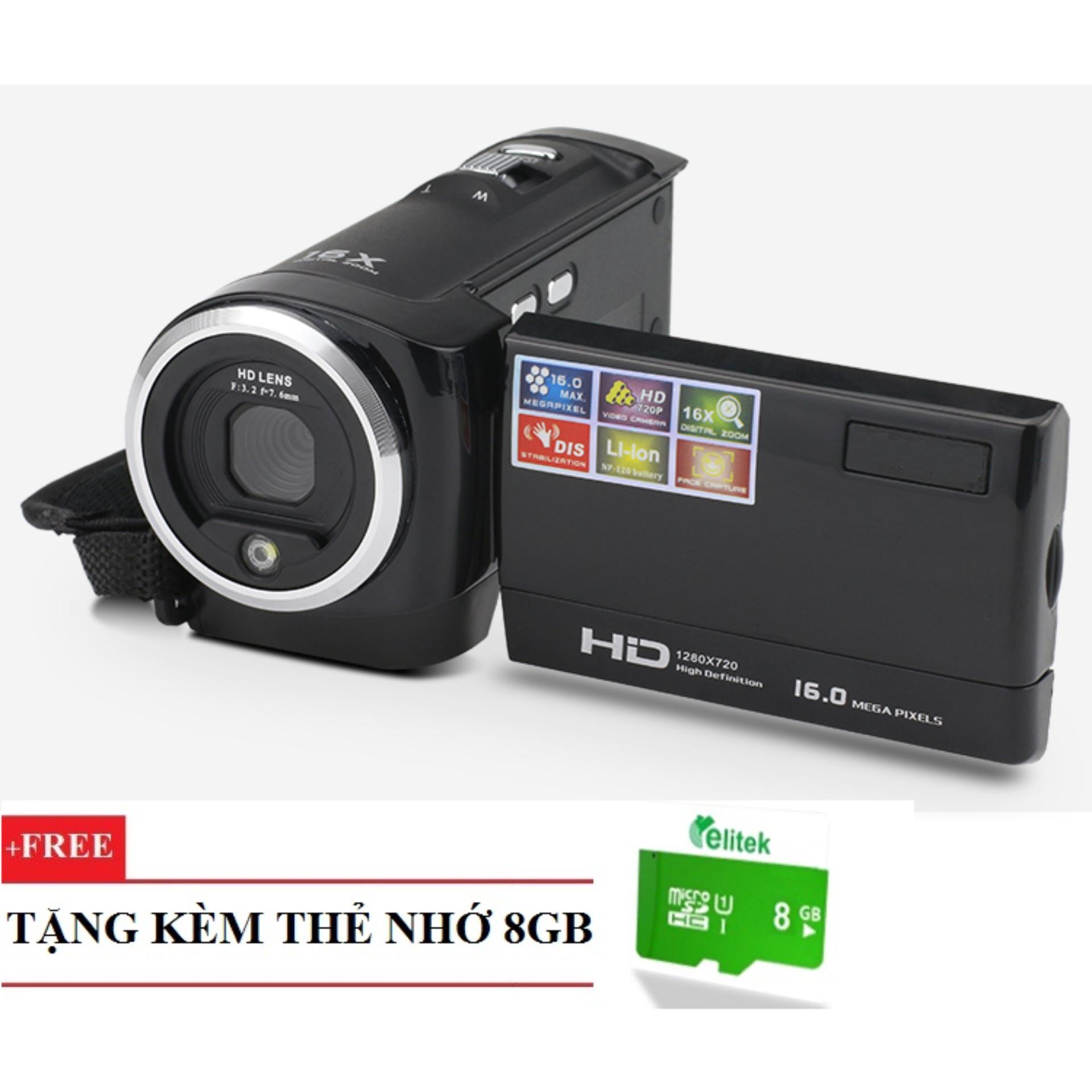 Giá Sốc Máy quay phim cầm tay ELITEK HD Digital Video 16X + Tặng kèm thẻ nhớ 8GB