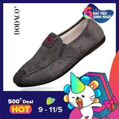 Giày lười giày mọi nam giày nam thời trang nam DODACO LVS0002 – COANH (Xám Nâu Xanh)