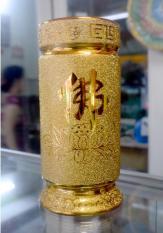 Ống đựng nhang kim sa vàng cao 25cm