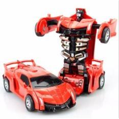 Đồ chơi siêu xe ô tô biến hình thành Robot( màu tùy ý)