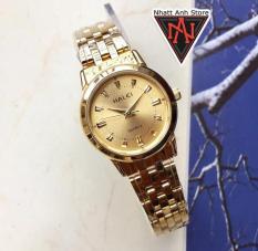 Đồng hồ nữ halei H502VV vỏ vàng chống nước