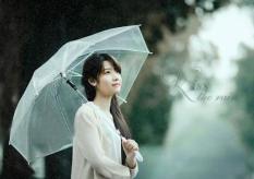 Ô dù trong suốt siêu lãng mạn