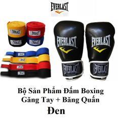 Bộ Sản Phẩm Găng Tay và Băng Quấn Tay Boxing Everlast – VivaSports
