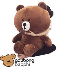 Gấu Brown màu Socola khổ vải 1M, Shop Gấu Bông Béo Phì, món quà ý nghĩa dành tặng cho bạn gái nhân dịp tỏ tình, sinh nhật.