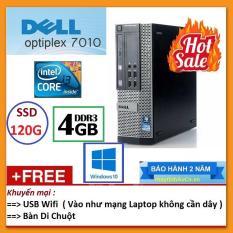 Thùng Dell optiplex 7010 ( Core i3 2100 / 4G / SSD 120G ), Tặng USB Wifi , Bàn di chuột – Bảo hành 24 tháng – Hàng Nhập Khẩu