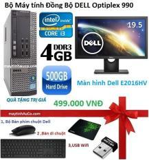 Bộ Máy tính Dell optiplex 990 (Core i3 RAM 4GB HDD 500GB ) – Màn hình Dell 19.5 inch 2016HV Wide LED , Tặng Bàn phím chuột Dell , USB wifi , Bàn di chuột ,Bảo hành 24 tháng