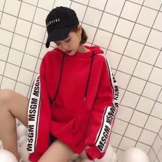 Áo hoodie in viền chữ