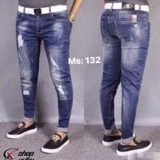 Quần jean nam co giản phối xước thời trang ( MS132 )
