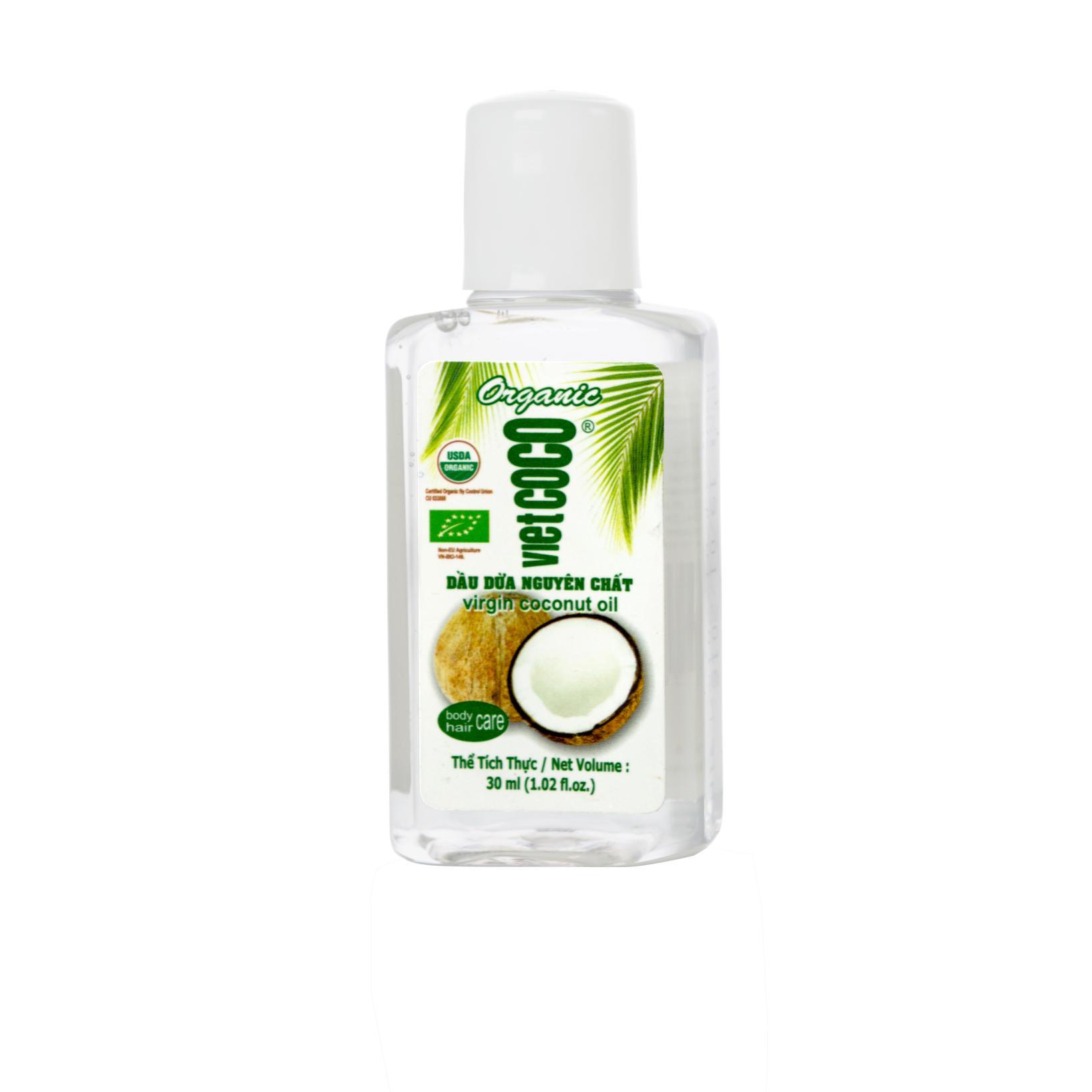 Dầu dừa nguyên chất Organic Vietcoco 30ml