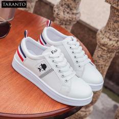 Giày thời trang nữ thể thao đế bằng TARANTO TRT-GDBNU-03-TR (màu trắng)