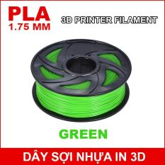 Dây sợi nhựa PLA in 3D 1.75mm 1Kg Green